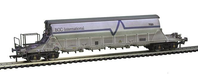 E87032 EFE Rail PBA TIGER China Clay Wagon number TRL 11623 wthd